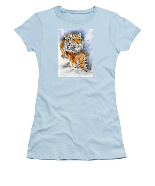 Women's T-Shirt (Junior Cut) featuring the painting Forceful by Barbara Keith