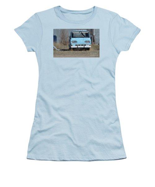 Ford Light Blue Women's T-Shirt (Junior Cut) by Renie Rutten