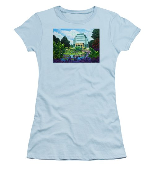 Women's T-Shirt (Junior Cut) featuring the painting Forest Park Jewel Box by Michael Frank