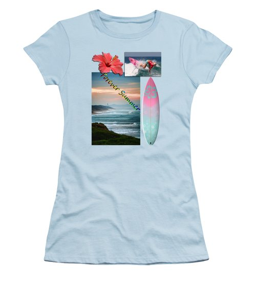 Women's T-Shirt (Junior Cut) featuring the photograph Forever Summer 5 by Linda Lees