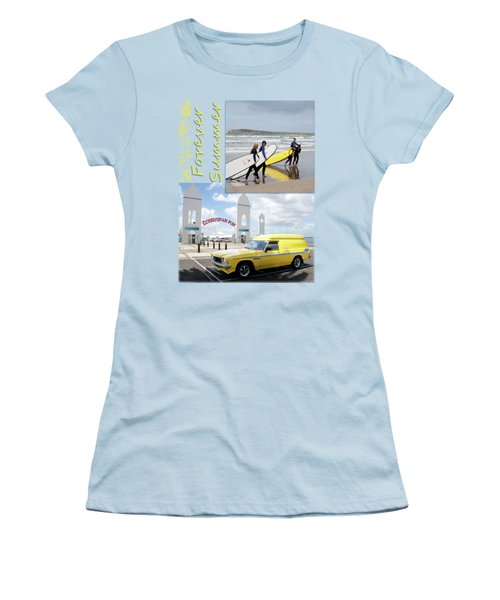 Women's T-Shirt (Junior Cut) featuring the photograph Forever Summer 6 by Linda Lees