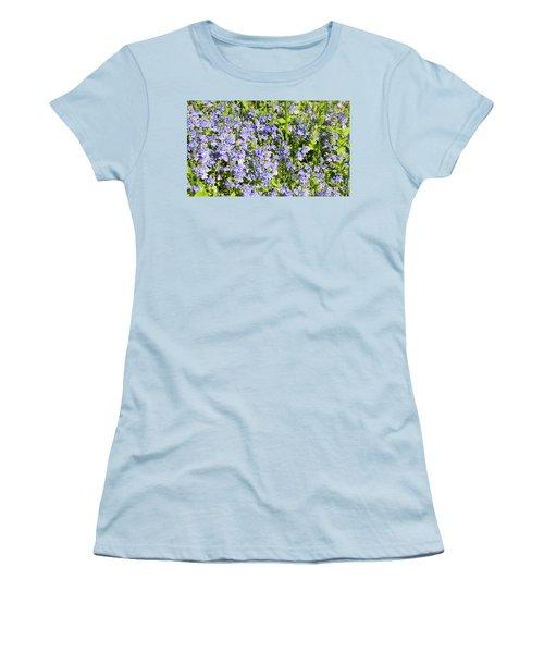 Forget-me-not - Myosotis Women's T-Shirt (Junior Cut) by Irina Afonskaya