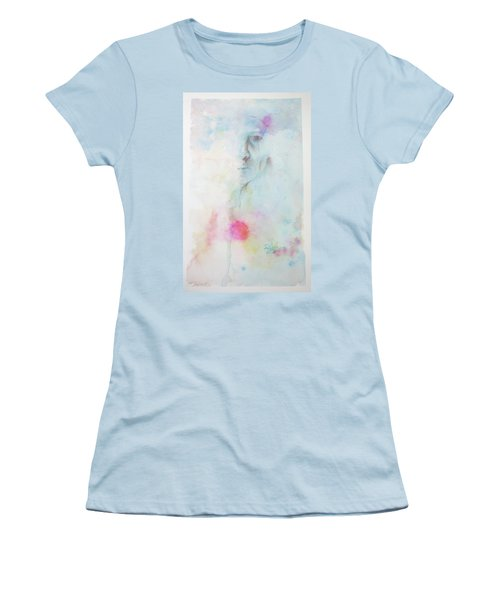 Women's T-Shirt (Junior Cut) featuring the painting Forlorn Me by Rachel Hames