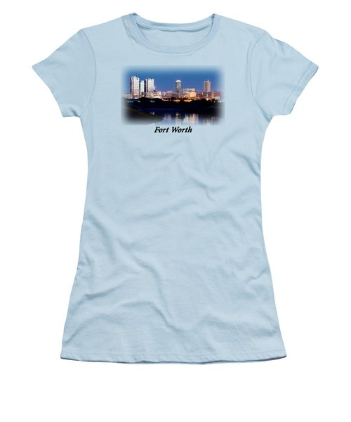 Fort Worth Night Skyline T-shirt Women's T-Shirt (Athletic Fit)