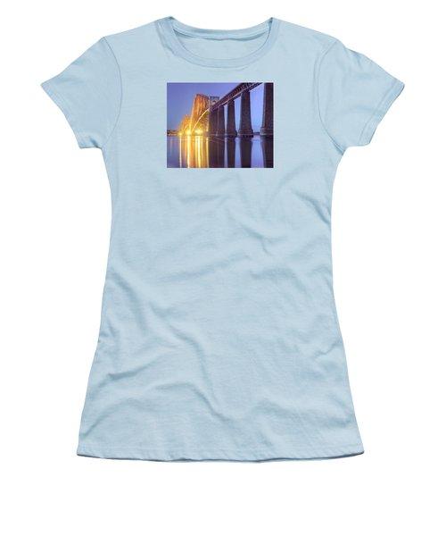 Forth Bridge Twilight Women's T-Shirt (Junior Cut) by Ray Devlin