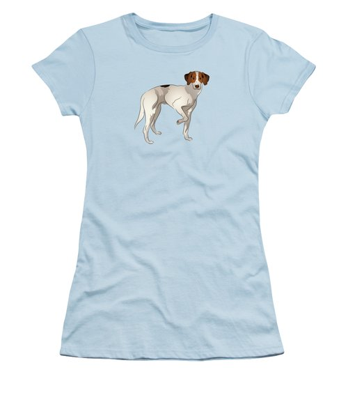 Foxhound Women's T-Shirt (Junior Cut) by MM Anderson