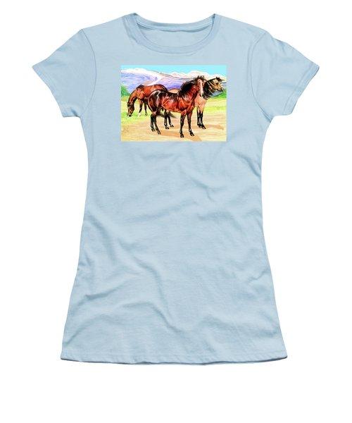 Free Range Women's T-Shirt (Junior Cut) by Cheryl Poland