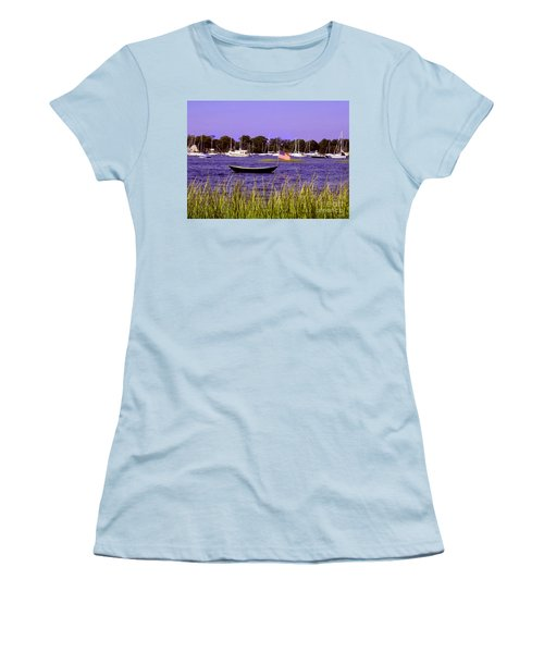 Freedom Bristol Harbor Rhode Island Women's T-Shirt (Junior Cut) by Tom Prendergast