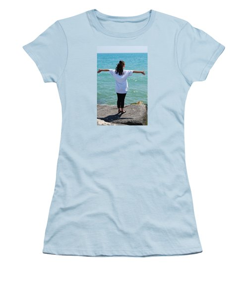 Women's T-Shirt (Junior Cut) featuring the photograph Freedom by Ramona Whiteaker
