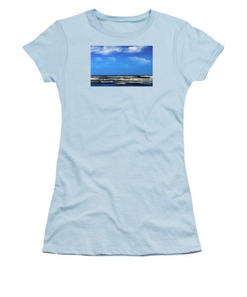 Freeport Texas Seascape Digital Painting A51517 Women's T-Shirt (Athletic Fit)