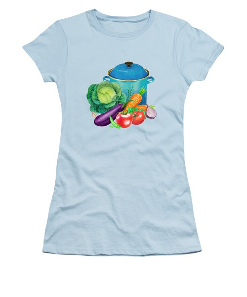 Fresh Vegetable Bounty Women's T-Shirt (Junior Cut) by Little Bunny Sunshine