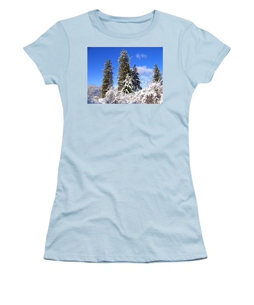 Women's T-Shirt (Junior Cut) featuring the photograph Fresh Winter Solitude by Will Borden