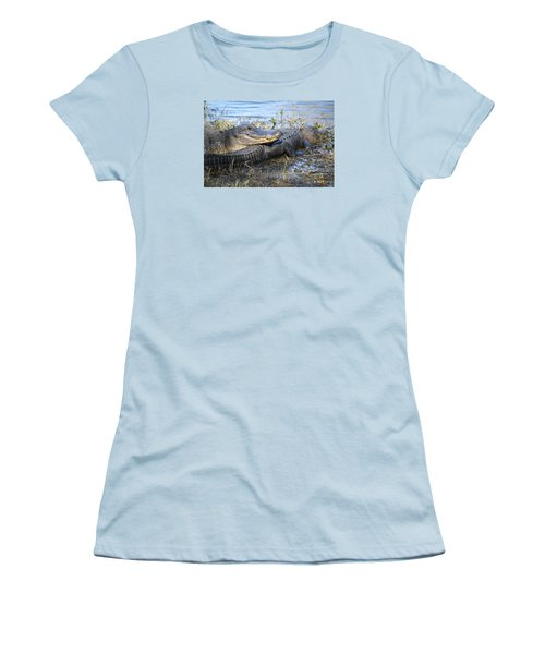 Women's T-Shirt (Junior Cut) featuring the painting Friend, I Got Your Back by Roena King