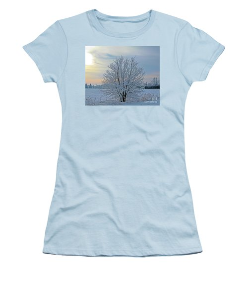 Women's T-Shirt (Junior Cut) featuring the photograph Frosted Sunrise by Heather King