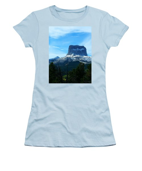 Frosty Chief Mountain Women's T-Shirt (Athletic Fit)