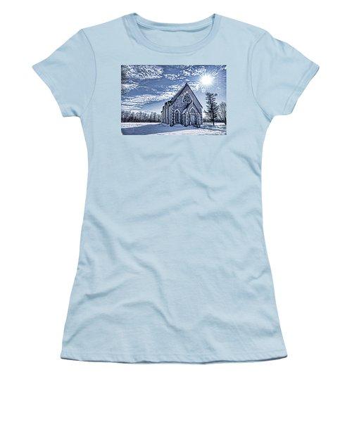 Frozen Land Women's T-Shirt (Junior Cut) by Alana Ranney