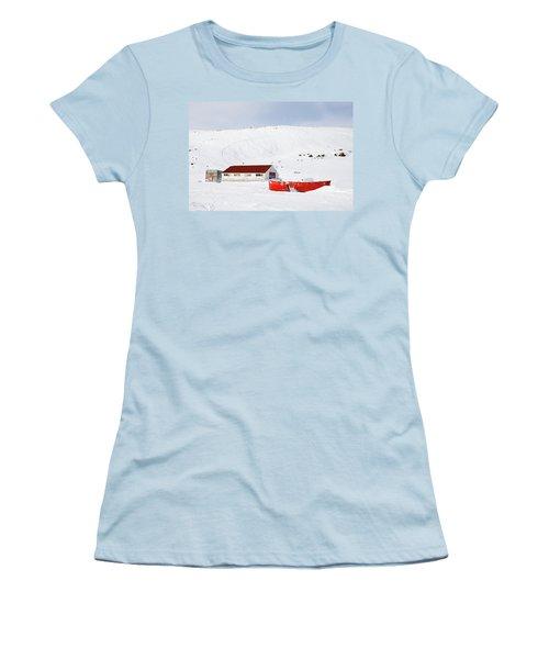 Frozen Life Women's T-Shirt (Junior Cut) by Nick Mares