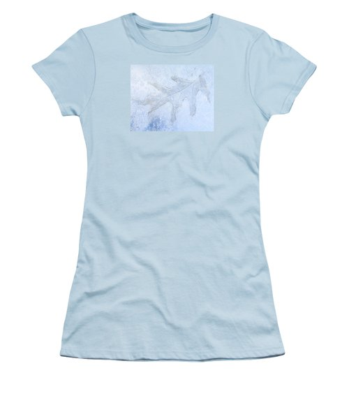 Frozen Oak Leaf Imprint Women's T-Shirt (Athletic Fit)