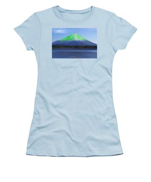Fuji Women's T-Shirt (Junior Cut) by Thomas M Pikolin