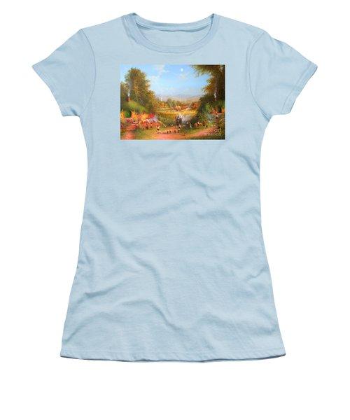 Gandalf's Return Fireworks In The Shire. Women's T-Shirt (Junior Cut) by Joe  Gilronan