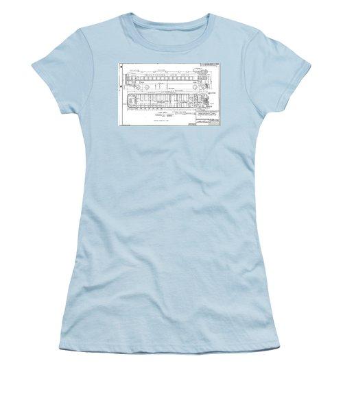 Gas Electric Car Diagram Women's T-Shirt (Athletic Fit)