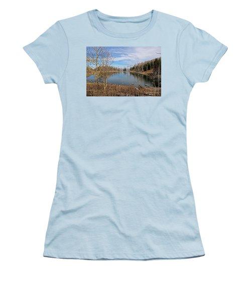 Gates Lake Women's T-Shirt (Junior Cut) by Cindy Murphy - NightVisions