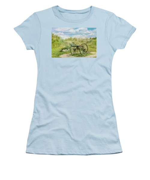 Gettysburg Battlefield Cannon Ver Two Women's T-Shirt (Junior Cut) by Randy Steele