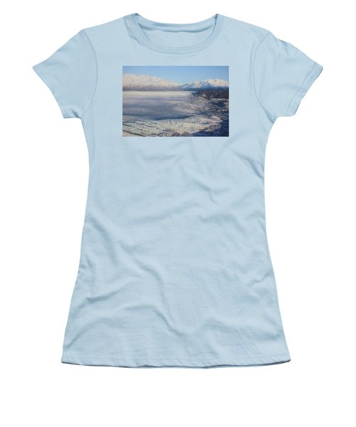 Women's T-Shirt (Junior Cut) featuring the photograph Glacier In Alaska by Jingjits Photography