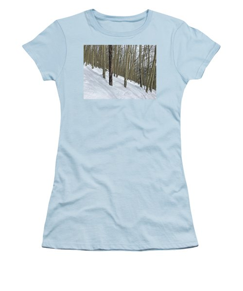 Gladed Run Women's T-Shirt (Junior Cut) by Christin Brodie