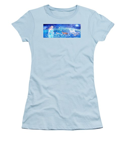 Glimmering Girl Women's T-Shirt (Athletic Fit)