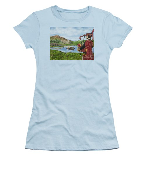 Women's T-Shirt (Junior Cut) featuring the photograph Going Home by Val Miller