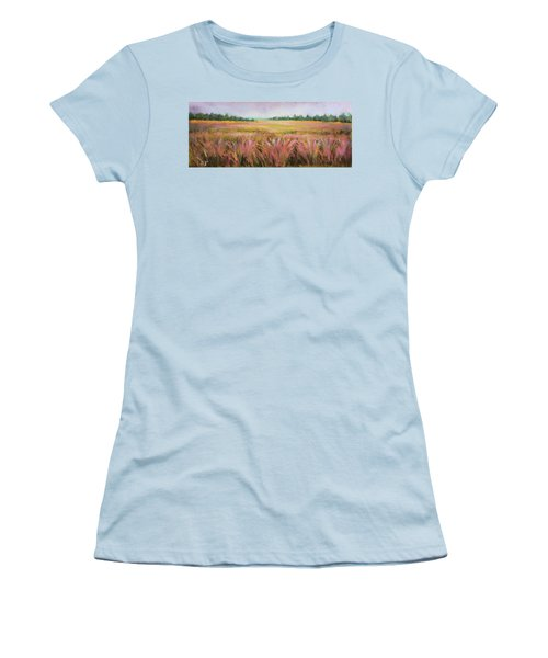 Golden Field Women's T-Shirt (Athletic Fit)