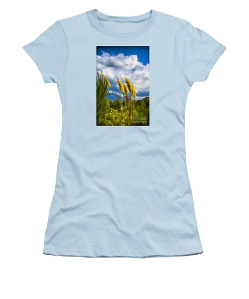 Women's T-Shirt (Junior Cut) featuring the photograph Golden Fluff by Rick Bragan