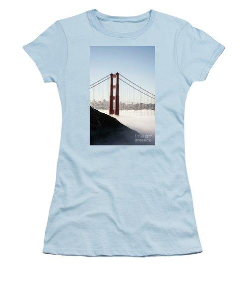 Women's T-Shirt (Junior Cut) featuring the photograph Golden Gate And Marin Highlands by David Bearden
