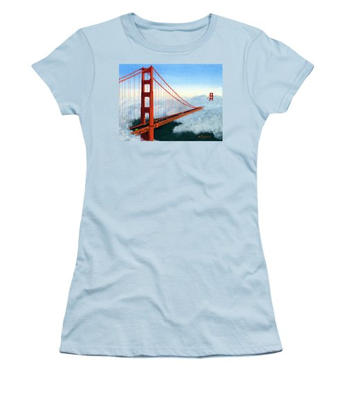Golden Gate Bridge Sunset Women's T-Shirt (Athletic Fit)