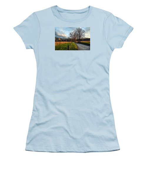 Golden Hour In The Cove Women's T-Shirt (Junior Cut) by Debbie Green