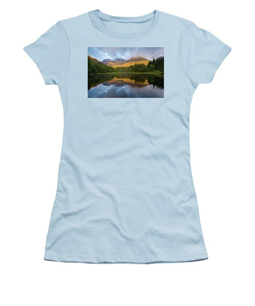 Golden Light At The Torren Lochan Women's T-Shirt (Athletic Fit)