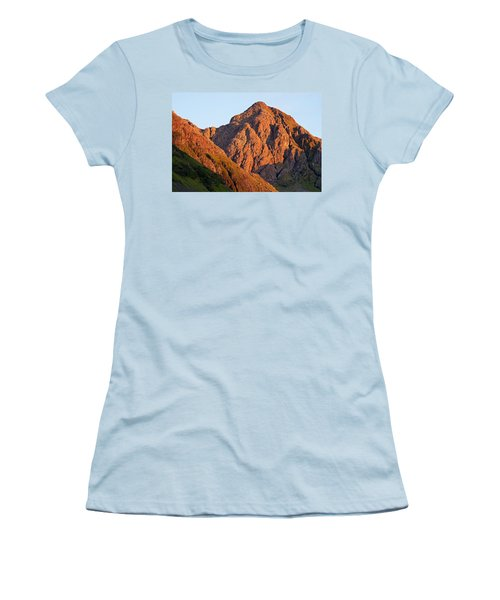 Golden Light Hits Bidean Nam Bian Women's T-Shirt (Athletic Fit)