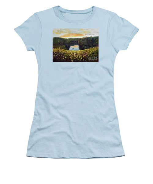 Goldenrods On Davenport Lake-ellijay, Ga  Women's T-Shirt (Athletic Fit)