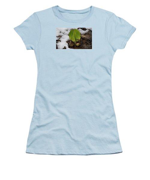 Women's T-Shirt (Junior Cut) featuring the photograph Goodbye Winter by Randy Bodkins