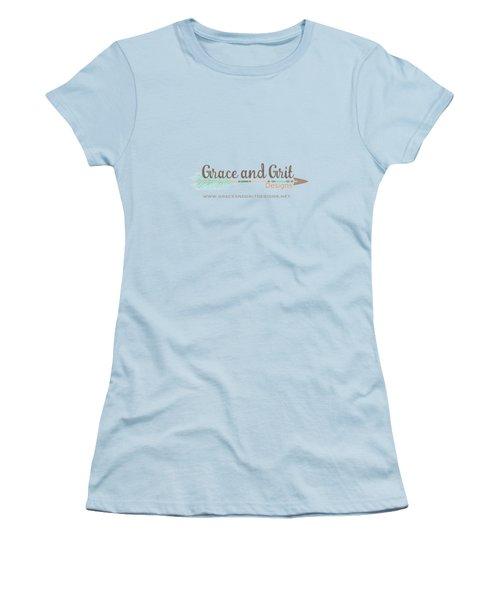 Grace And Grit Logo Women's T-Shirt (Junior Cut) by Elizabeth Taylor