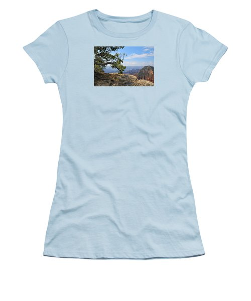 Grand Canyon North Rim Craggy Cliffs Women's T-Shirt (Athletic Fit)
