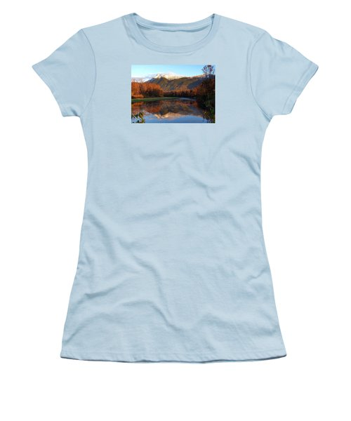 Mount Cheam, British Columbia Women's T-Shirt (Junior Cut) by Heather Vopni