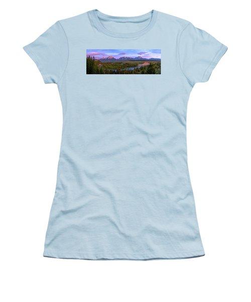 Grand Tetons Women's T-Shirt (Junior Cut) by Chad Dutson