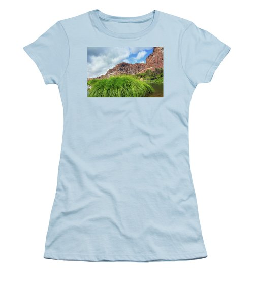 Grass Along John Day River In Central Oregon Women's T-Shirt (Athletic Fit)