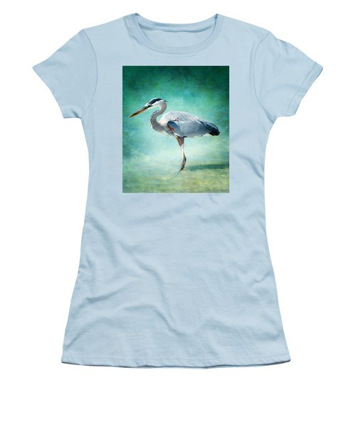 Great Blue Heron Women's T-Shirt (Athletic Fit)