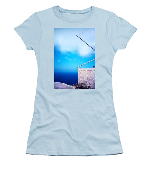 Greek Windmill Women's T-Shirt (Junior Cut)