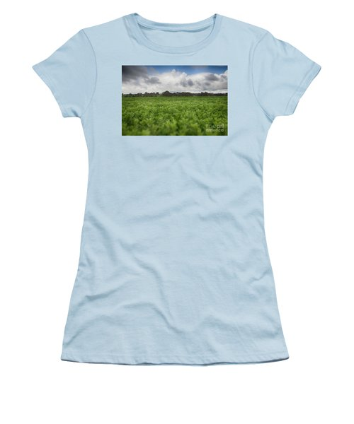 Green Fields 4 Women's T-Shirt (Junior Cut) by Douglas Barnard