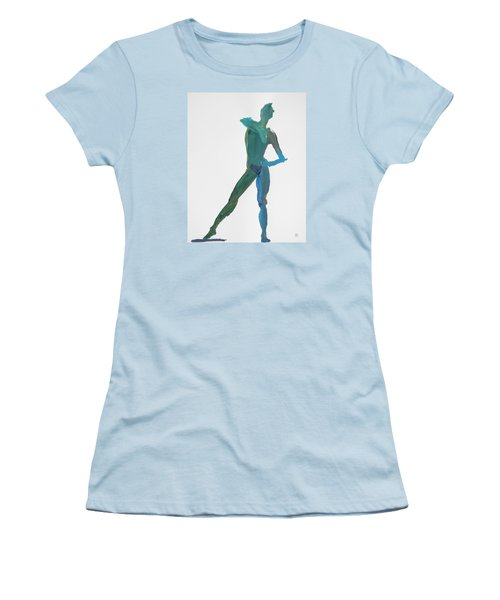 Green Gesture 2 Pointing Women's T-Shirt (Athletic Fit)