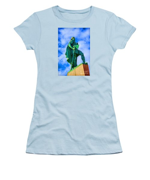 Women's T-Shirt (Junior Cut) featuring the photograph Green Leader by Rick Bragan